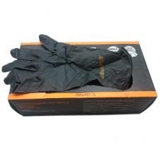Перчатки нитрил черный , размер S